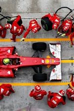 Preview iPhone wallpaper F1 Formula One racing, emergency tire change