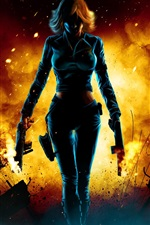 Preview iPhone wallpaper Fantasy girl gunman after fierce fighting