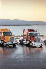 Preview iPhone wallpaper Five nice trucks