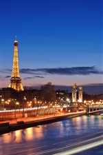 Preview iPhone wallpaper French cities of Paris night scene