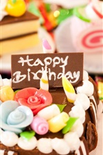Preview iPhone wallpaper Holiday birthday cake