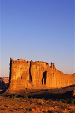 Preview iPhone wallpaper Hot and arid desert rocks