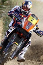 Preview iPhone wallpaper Intense motorcycle racing
