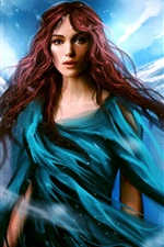 Preview iPhone wallpaper Keira Knightley beautiful painting
