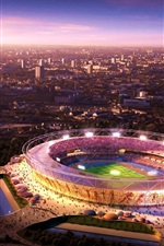 Preview iPhone wallpaper London Olympic venues, night view