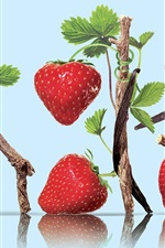 Preview iPhone wallpaper Nutrient rich fruits, strawberry