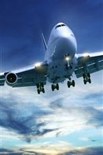 Preview iPhone wallpaper Passenger aircraft Boeing 747