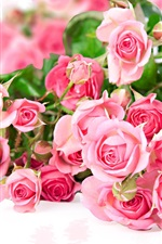 Preview iPhone wallpaper Pink rose flower bouquet, romantic color