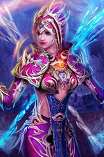 Purple fantasy girl, the magic of Ice and Fire