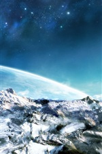 Preview iPhone wallpaper Snow planet fantasy sky