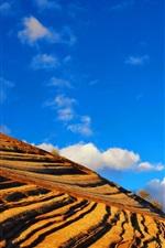 Preview iPhone wallpaper Strange red rock hillside