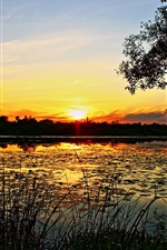 Preview iPhone wallpaper The nature scenery of the sunrise and sunset