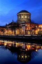 The urban riparian night scene Ireland