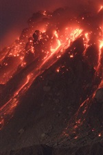 Preview iPhone wallpaper Volcano hot magma