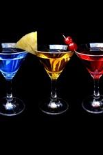 iPhone обои Несколько чашек различных коктейлей цветов