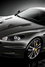 Preview iPhone wallpaper Aston Martin supercar black color