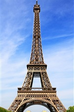 Preview iPhone wallpaper Attractions, the Eiffel Tower in Paris, France