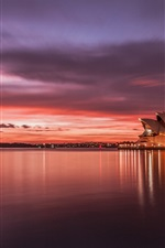 Preview iPhone wallpaper Australia Sydney Opera House sunset