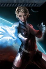 Preview iPhone wallpaper Beautiful girl in Mass Effect 3