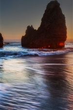 Preview iPhone wallpaper Beautiful sea sunset evening