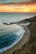 Preview iPhone wallpaper Beautiful sunrise sea beach