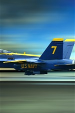 Preview iPhone wallpaper Blue Angels, the high-speed flying fighter