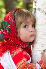 미리보기 iPhone 배경 화면 귀여운 소녀의 포옹 나무