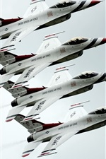 Preview iPhone wallpaper Dynamics F-16 Fighter