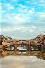 Preview iPhone wallpaper Florence, Italy, Ponte Vecchio