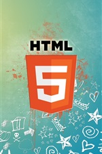 Preview iPhone wallpaper HTML5 hypertext markup language logo