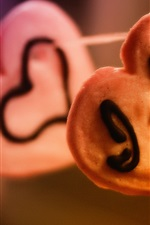미리보기 iPhone 배경 화면 내가 당신을 사랑, 심장 모양의 비스킷