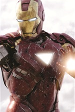 Preview iPhone wallpaper Iron Man is fighting, The Avengers