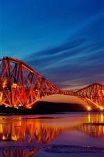 Preview iPhone wallpaper Scotland bridge night lights