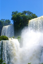 Preview iPhone wallpaper Spectacular scenery of waterfalls and rapids water