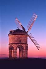 Preview iPhone wallpaper Sunset windmill