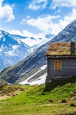Preview iPhone wallpaper The Norway scenery, mountains and houses