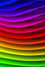 The abstract striped waveform, the colors of the rainbow