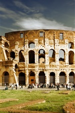Tourist attractions, the Colosseum, Italy