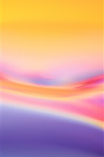 Preview iPhone wallpaper Abstract background, the warm colors of the curve