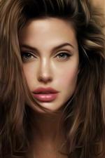 미리보기 iPhone 배경 화면 안젤리나 졸리 아름다운 예술 그림
