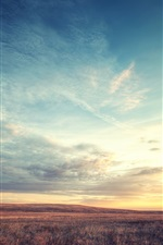 Preview iPhone wallpaper Boulder Colorado, beautiful sunrise scenery, floating clouds sky