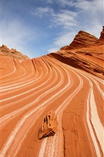 Coyote Buttes, canyon, cliffs, textures, stone wave