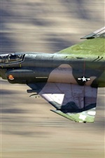 Preview iPhone wallpaper Military aircraft, F4 fighter