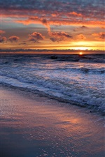 Preview iPhone wallpaper The coast beautiful sunset landscape
