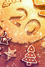 Preview iPhone wallpaper 2013 New Year, Christmas, cookies