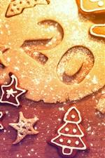 미리보기 iPhone 배경 화면 2013 신년, 크리스마스, 쿠키