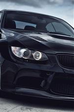미리보기 iPhone 배경 화면 BMW M3 검은 차