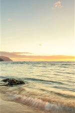 Preview iPhone wallpaper Hawaii ocean coast sunset