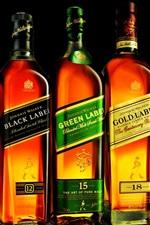 Johnnie Walker, whiskey close-up