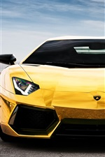 Lamborghini Aventador LP700-4 yellow supercar